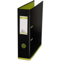 Ordner Elba 10489 myColour PP mit Griffloch A4 80mm schwarz / hellgrün apfelgrün
