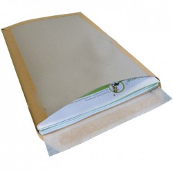 PAPPRÜCKWANDTASCHEN Officebiene® B4 BRAUN (125 Stück)