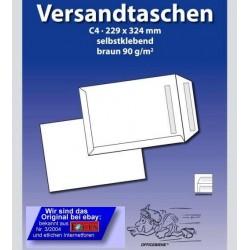 VERSANDTASCHEN Officebiene® C4 BRAUN SK ohne Fenster (50 Stück)