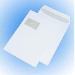 Versandtaschen Briefumschläge C4 mit FENSTER WEISS SK (250 Stück)