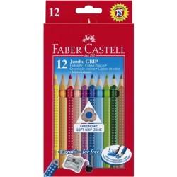 Buntstifte Faber Castell Farbstift Jumbo GRIP mit Anspitzer 12er Pack