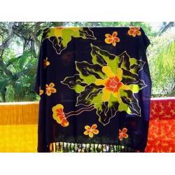 "SARONG PAREO WICKELTUCH WANDBEHANG ""FLOWER"" Bali original"