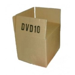 DVD-KARTON 190x150x140mm Einwellig DVD10 (100 STÜCK) SONDERANGEBOT