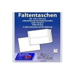 Seitenfaltentasche Maxibrief 250x353+40mm 40er Falte hk Weiss / 250 Stück