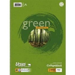 Collegeblock A4 70g/m² weiß 80 Blatt liniert Ursus Green