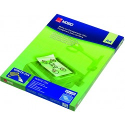 OH-Schreibfolie Nobo PES A4 0,12mm farbl. Schachtel á 100 St.