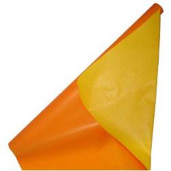 Geschenkpapier 70cmx2m 2-seit. Druck 60g/m² orange/gelb 1 Ro.