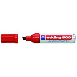 Permanentmarker Edding 500 nachfüllbar rot 2-7mm / 1 St.