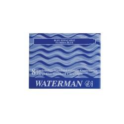 Füllhalterpatrone Patronen Waterman Großraum blau Pckg.=8St