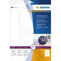 CD/DVD-Etiketten Herma Ø116mm weiß glossy 1 Pckg. = 20 Stück