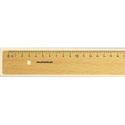 Lineal 30cm mm-Teilung natur Holz mit Tuschekante und Metalleinlage