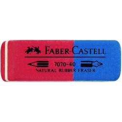 Radiergummi Faber Castell 7070-40 rot/blau 50x18x8 mm