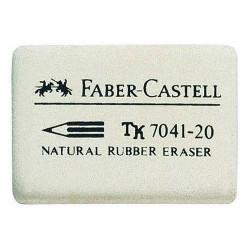 Radiergummi Faber Castell 7041 Kautschuk 40x27x13 mm weiß