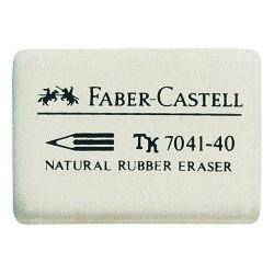 Radiergummi Faber Castell 7041 Kautschuk 34x26x8 mm weiß