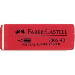 Radiergummi Faber Castell 7005-40 Kautschuk 50x18x8 mm rot