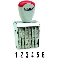 Ziffernbänderstempel 4-stellig 1,7 x 0,5 cm Trodat 1556 1 Stück