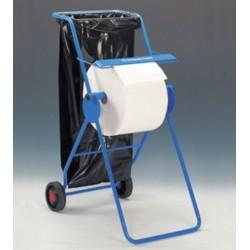 Wischtuchbodenständer Metall für Rolle 50x74x109cm blau inkl. Müllbeutel - Halterung