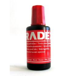 Stempelfarbe ohne Oel 27 ml Verstreichflasche rot