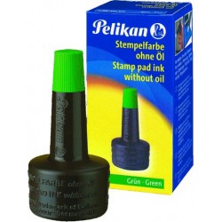 Stempelfarbe ohne Öl 28ml Pelikan grün 4K Verstreicherflasche