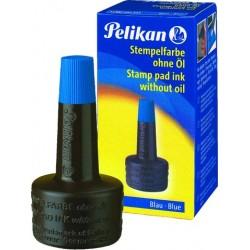 Stempelfarbe ohne Öl 28ml Pelikan blau 4K Verstreicherflasche