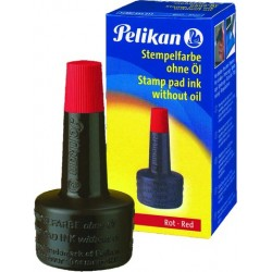 Stempelfarbe ohne Öl 28ml Pelikan rot 4K Verstreicherflasche