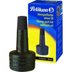 Stempelfarbe ohne Öl 28ml Pelikan schwarz 4K Verstreicherflasche