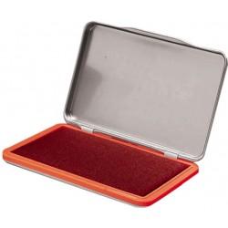 Stempelkissen Metall 7 x 11 cm Typ 2 rot getränkt