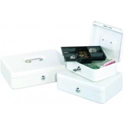 Geldkassette Grösse 2  5 Fächer 20 x 16 x 9 cm weiß (1 Stück)