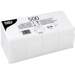 Servietten 33x33cm 1-lagig 1/8 Falz weiß Großpack 500 Stück