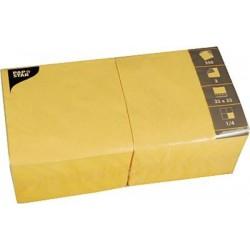 Servietten 33x33 cm FSC Zelltuch 3-lagig 1/4 Falz Gelb Goldgelb 250er Pack