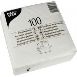 Servietten 30x30cm 1-lagig 1/4 Falz Tissue weiß 100 Stück/Pack