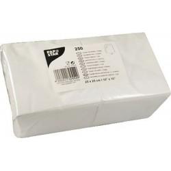 Servietten 25x25cm 2-lagig 1/4 Falz Weiß 250er Pack Gastro-Pack