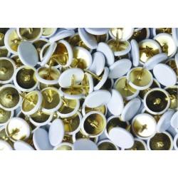 Heftzwecken Reißnagel Kunststoff überzogen weiß 200er Pack