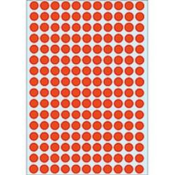 Etiketten rund Markierungspunkte Ø 8mm rot sk Herma Pa.=5632St.