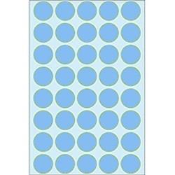 Etiketten Herma 2253 rund 19mm Ø blau (Pa.= 1280 St.)