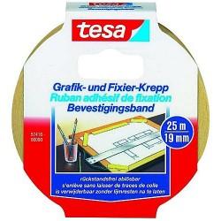 Kreppband Tesa 57416 Fixierkrepp 19mmx25m in Abrollpackung