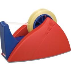 Tischabroller Tesa 66m x 25mm schwer Easy Cut leer rot/blau 1 St