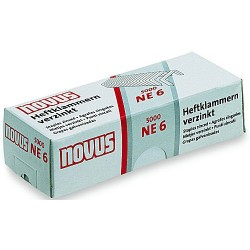 Heftklammern NE6 verzinkt f. Elektro Novus B100-EL 5000 Stück