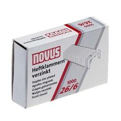 Heftklammern Novus 26/6 verzinkt (Packung = 1000 Stück)
