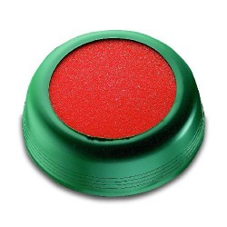Markenanfeuchter Ø10cm grün mit Schwamm orange / 1 Stück