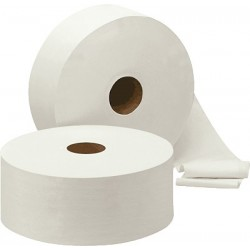 Toilettenpapier Großrollen 2lagig Jumbo weiß 95mmx360m 6 Rollen