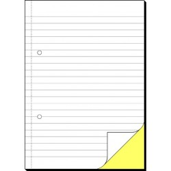 Durchschreibebuch liniert A5 hoch 2fach sd weiß 2x40Blatt Sigel SD005