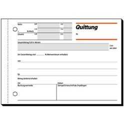 Quittungsblock Sigel QU615 A6 quer 50 Blatt m. MwSt.-Nachweis
