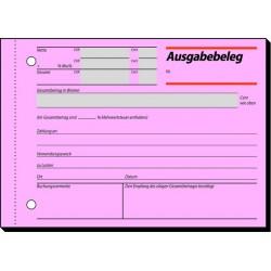 Ausgabebeleg A6 quer 50 Blatt Sigel AG615 rosa MwSt-Nachw. 1 St