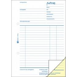 Auftragsbuch Zweckform 1725 A5 hoch 2x40 Blatt sd
