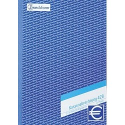 Kassenabrechnungsblock Zweckform 428 DIN A4 2x50 Bl. / 1 St.
