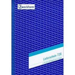 Lieferscheinbuch Zweckform 726 A5 2 x 50 Blatt 2-fach bedruckt