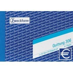 Quittungsblock Zweckform 306  A6 quer 2x50 Blatt m. Mwst 1 St.