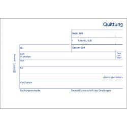 Quittungsblock Zweckform 333 A6 quer 3x50 Blatt Mwst.-Nachweis 1