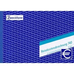 Reisekosten-Abrechnungsblock Zweckform 740 A5 quer 50 Blatt